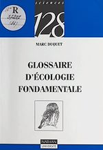 Download this eBook Glossaire d'écologie fondamentale