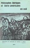Télécharger le livre :  Philosophes ibériques et ibéro-américains en exil