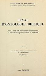 Download this eBook Essai d'ontologie biblique