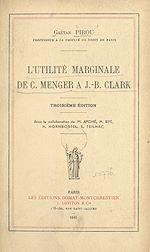 Download this eBook L'utilité marginale de C. Menger à J.-B. Clark