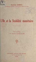 Download this eBook L'or et la stabilité monétaire