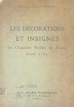 Download this eBook Les décorations et insignes des chapitres nobles de France avant 1789