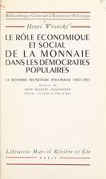 Download this eBook Le rôle économique et social de la monnaie dans les démocraties populaires