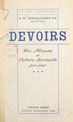 Download this eBook Devoirs (3). Dix minutes de culture spirituelle par jour