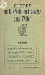Download this eBook Études sur la Révolution française dans l'Allier