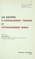 Download this eBook Les sociétés d'aménagement foncier et d'établissement rural