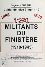 Download this eBook 1640 militants du Finistère (1918-1945)