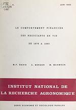 Download this eBook Le comportement financier des négociants en vin de 1976 à 1980