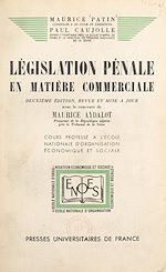 Download this eBook Législation pénale en matière commerciale