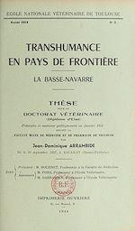 Download this eBook Transhumance en pays de frontière : la Basse-Navarre
