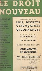 Download this eBook Le droit nouveau