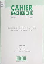 Download this eBook Éléments de méthode pour l'analyse du tissu économique local