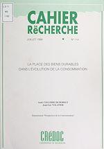 Download this eBook La place des biens durables dans l'évolution de la consommation
