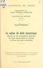 Download this eBook La notion de droit économique