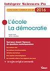 Télécharger le livre :  L'école, la démocratie - Concours commun des IEP