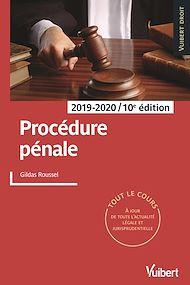 Téléchargez le livre :  Procédure pénale 2019/2020