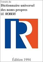 Download this eBook Extraits du Dictionnaire universel des noms propres
