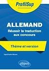 Télécharger le livre :  Allemand - Réussir la traduction aux concours