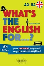 Download this eBook What's the english for...?