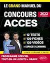 Le Grand Manuel du concours ACCES 2022 (Programme officiel : écrits + oraux)