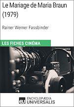 Download this eBook Le Mariage de Maria Braun de Rainer Werner Fassbinder