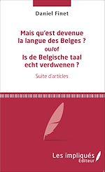 Download this eBook Mais qu'est devenue la langue des Belges ?