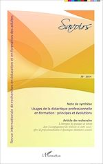 Téléchargez le livre :  Usages de la didactique professionnelle en formation : principes et évolutions