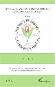 Téléchargez le livre :  Revue africaine des sciences juridiques N° 1/2016