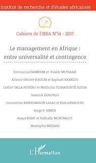 Téléchargez le livre :  Le management en Afrique : entre universalité et contingence