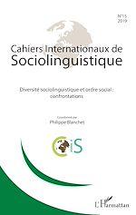 Téléchargez le livre :  Diversité sociolinguistique et ordre social : confrontations