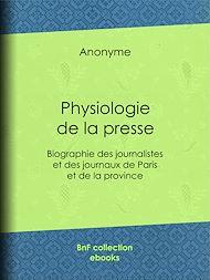 Téléchargez le livre :  Physiologie de la presse