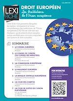 Download this eBook Droit européen - Les institutions de l'Union Européenne