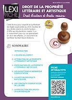 Download this eBook Droit de la propriété intellectuelle et artistique (2ème édition)