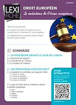 Download this eBook Droit européen - Le contentieux de l'Union européenne