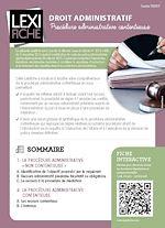 Téléchargez le livre :  Droit administratif - La procédure contentieuse administrative