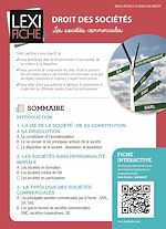 Download this eBook Droit des sociétés