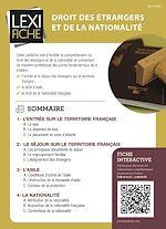 Download this eBook Droit des étrangers et de la nationalité