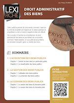 Téléchargez le livre :  Droit administratif des biens