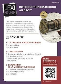 Download the eBook: Introduction historique au droit (2ème édition)