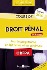 Download this eBook Cours de droit pénal 2021