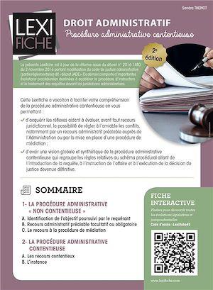 Téléchargez le livre :  Droit administratif : Procédure administrative contentieuse