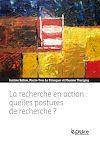 Télécharger le livre :  La recherche en action : quelles postures de recherche ?