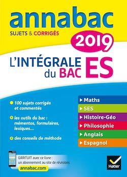 Annales Annabac 2019 L'intégrale Bac ES