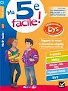 Télécharger le livre :  Ma 5e facile ! adapté aux enfants DYS ou en difficulté d'apprentissage