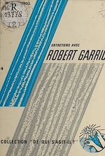 Download this eBook Entretiens  avec Robert Garric