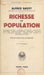 Téléchargez le livre :  Richesse et population