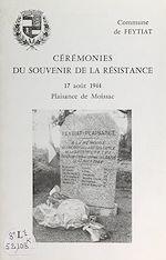 Download this eBook Cérémonies du souvenir de la Résistance