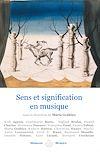 Télécharger le livre :  Sens et signification en musique