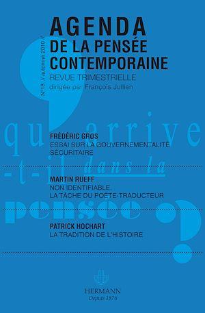 Téléchargez le livre :  Agenda de la pensée contemporaine, n°18