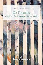 Téléchargez le livre :  De l'insolite - Essai sur la littérature du XXe siècle
